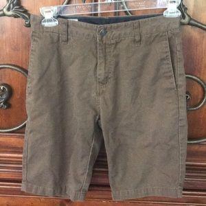 Boys Volcom brown shorts